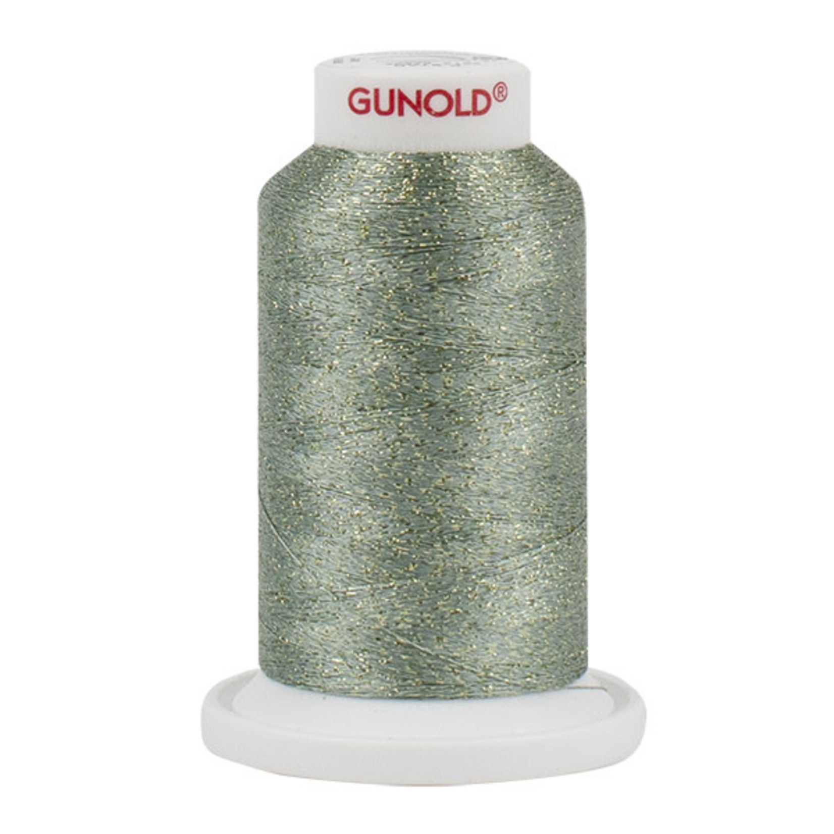 Gunold Poly Sparkle™ (Star™) Mini-King Cone 1,100 YD, 30 Wt, Teal with Gold 50555
