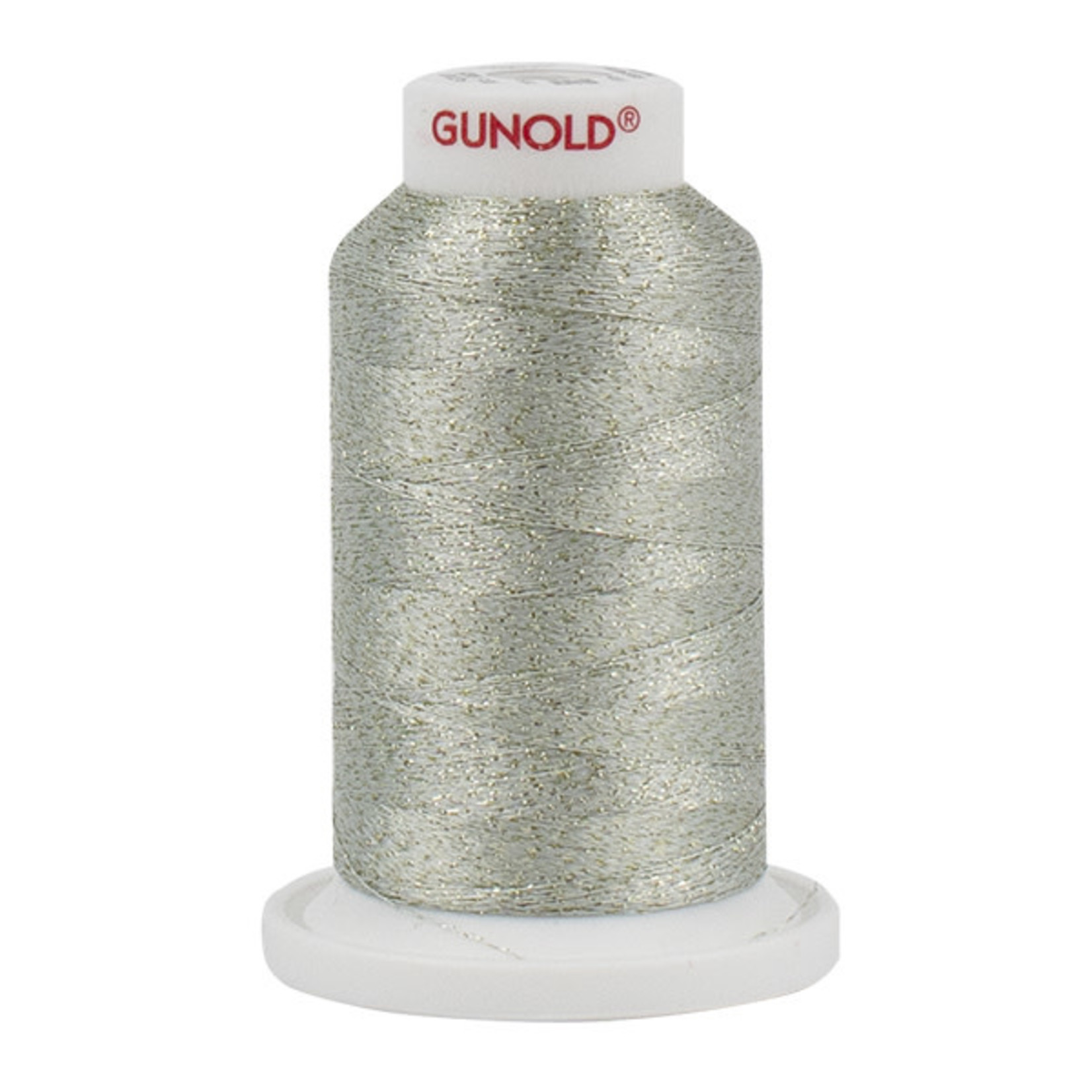 Gunold Poly Sparkle™ (Star™) Mini-King Cone 1,100 YD, 30 Wt, Pale Celadon with Gold 50525