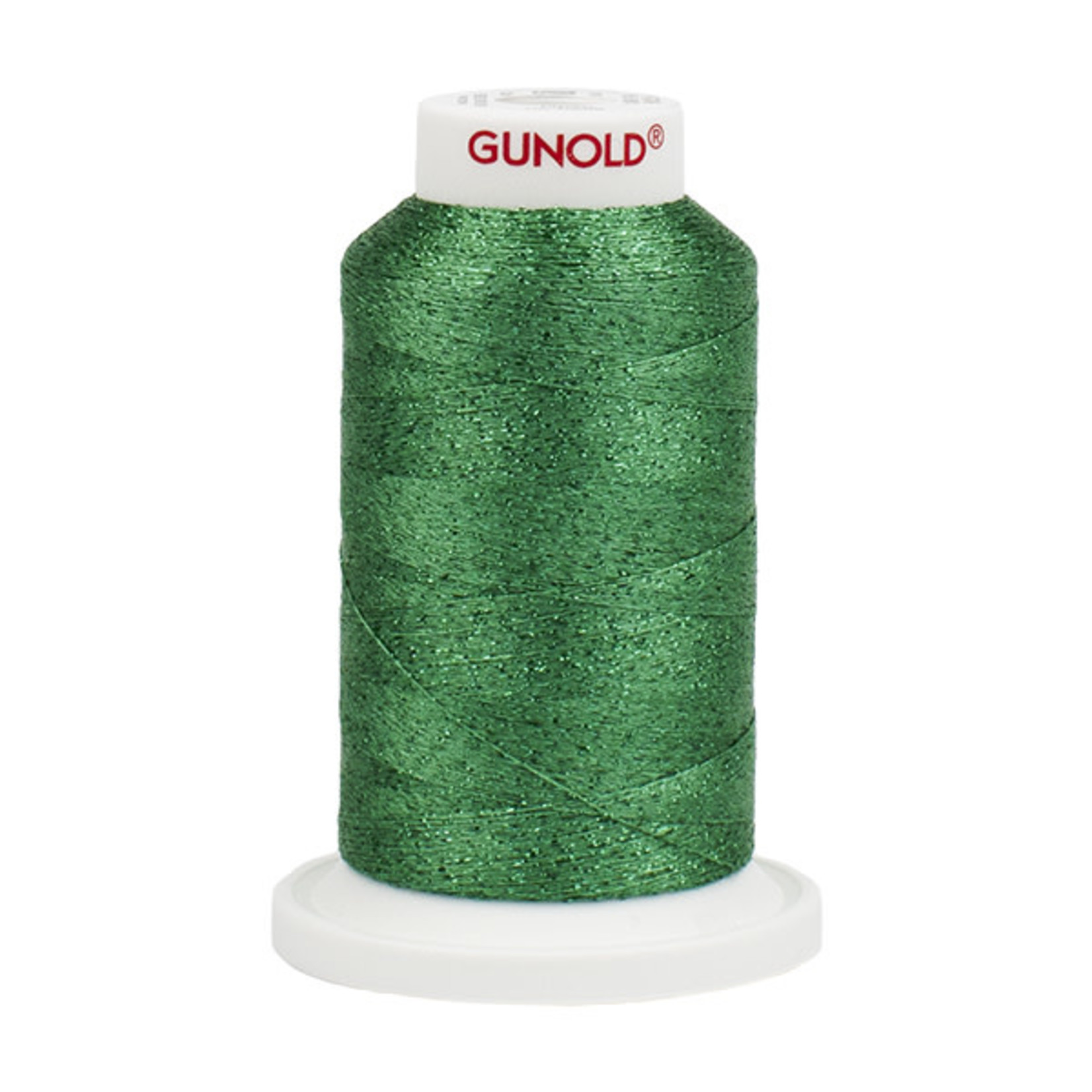 Gunold Poly Sparkle™ (Star™) Mini-King Cone 1,100 YD, 30 Wt, True Green with Tone On Tone Sparkle 50913