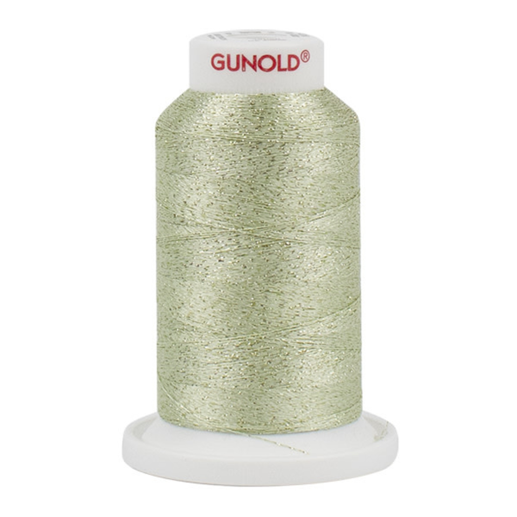 Gunold Poly Sparkle™ (Star™) Mini-King Cone 1,100 YD, 30 Wt, Light Mint Green with Tone On Tone 50530