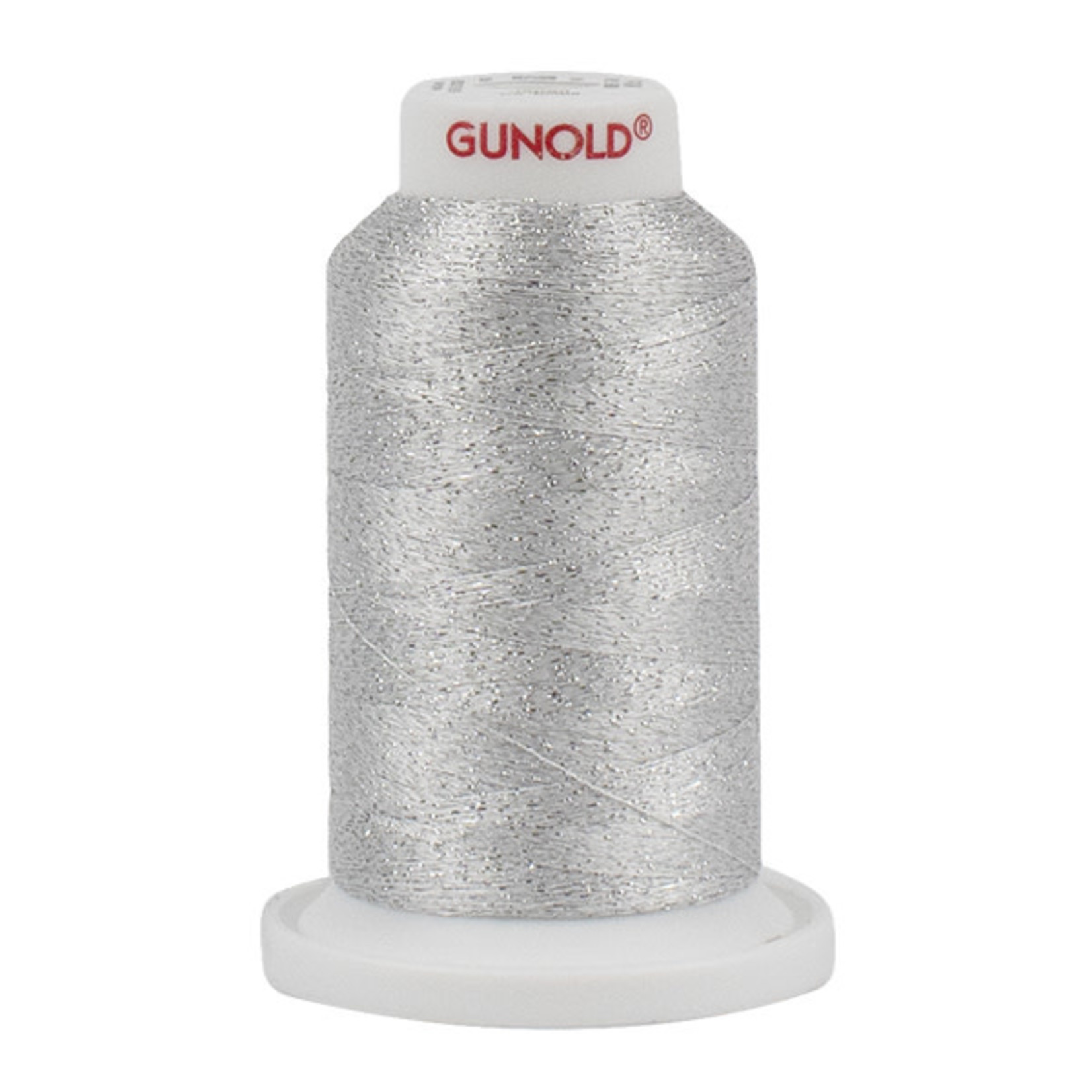 Gunold Poly Sparkle™ (Star™) Mini-King Cone 1,100 YD, 30 Wt, Dove Gray with Silver 50000
