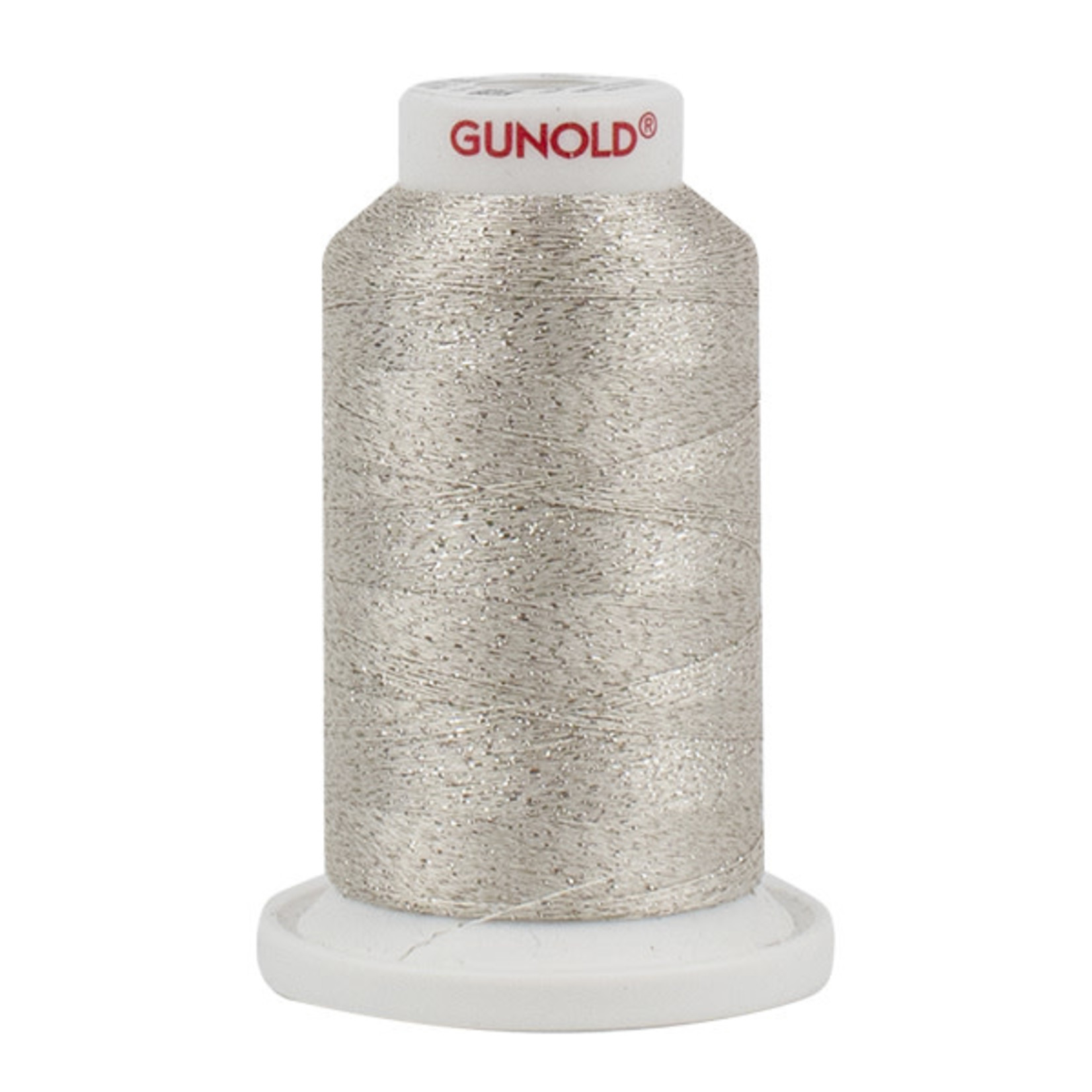 Gunold Poly Sparkle™ (Star™) Mini-King Cone 1,100 YD, 30 Wt, Off White with Silver Sparkle 50514