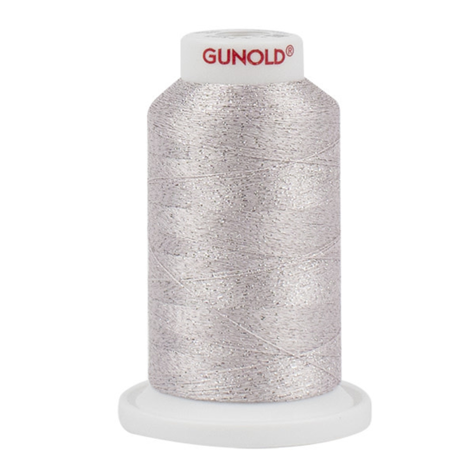 Gunold Poly Sparkle™ (Star™) Mini-King Cone 1,100 YD, 30 Wt, Pale Pink with Silver Sparkle 50516