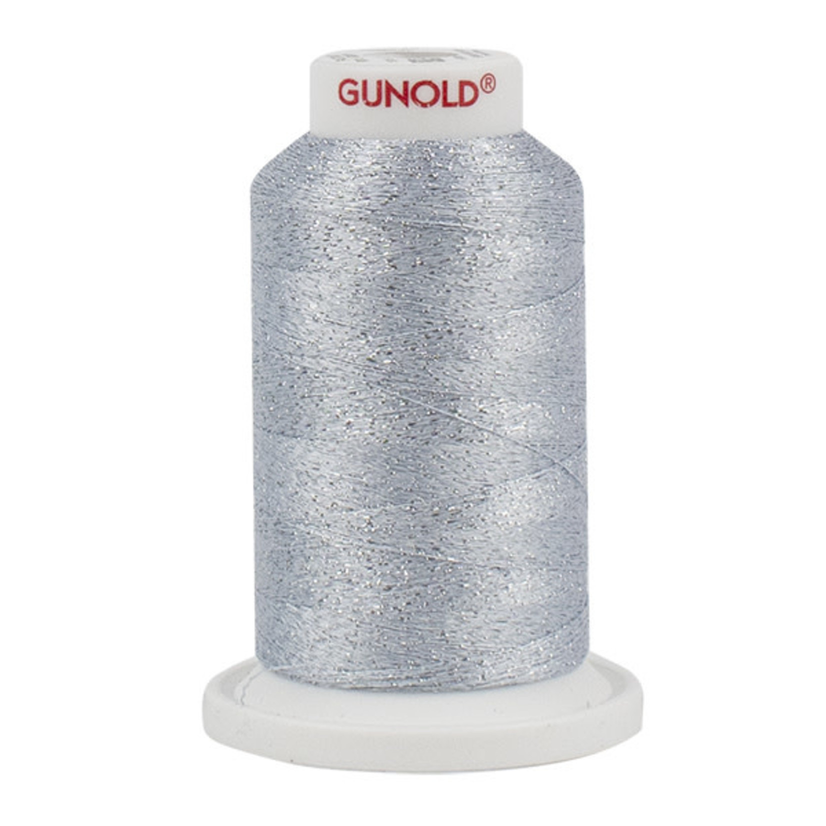 Gunold Poly Sparkle™ (Star™) Mini-King Cone 1,100 YD, 30 Wt, Light Sky Blue with Silver Sparkle 50519