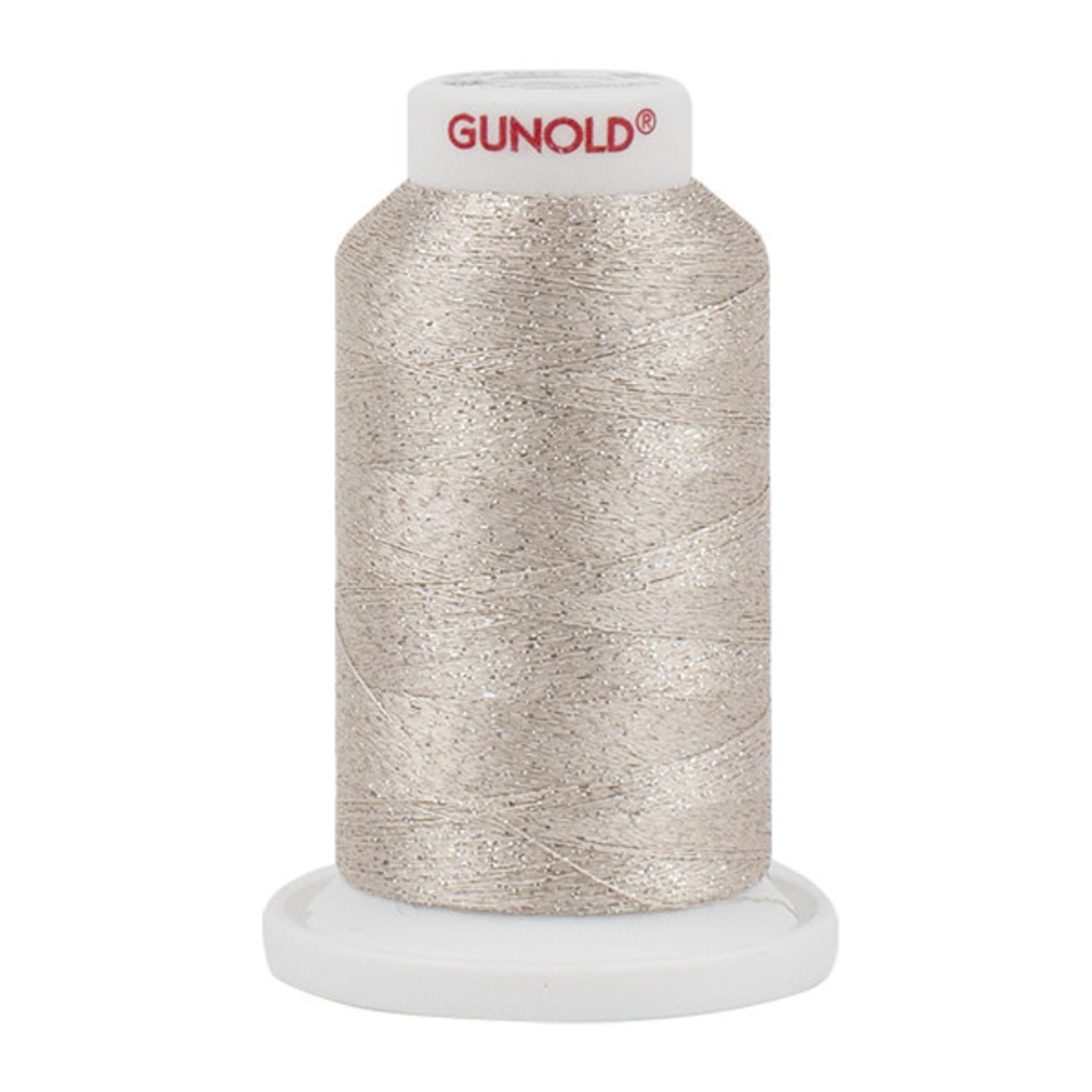 Gunold Poly Sparkle™ (Star™) Mini-King Cone 1,100 YD, 30 Wt, Light Ecru with Silver Sparkle 50522