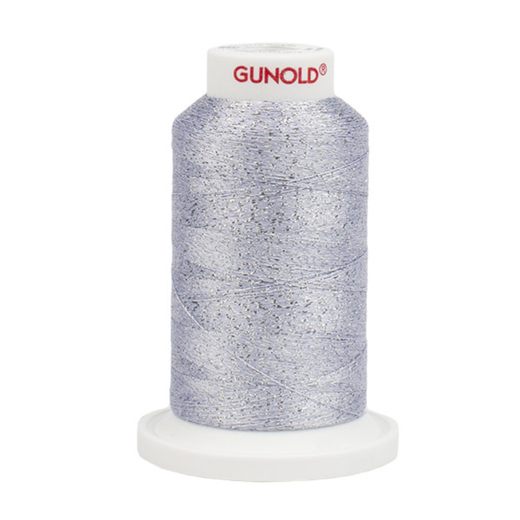 Gunold Poly Sparkle™ (Star™) Mini-King Cone 1,100 YD, 30 Wt, White with Silver Sparkle 50540