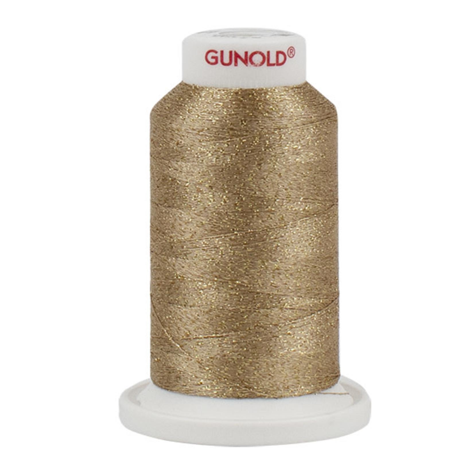 Gunold Poly Sparkle™ (Star™) Mini-King Cone 1,100 YD, 30 Wt, Dark Ecru with Gold Sparkle 50546