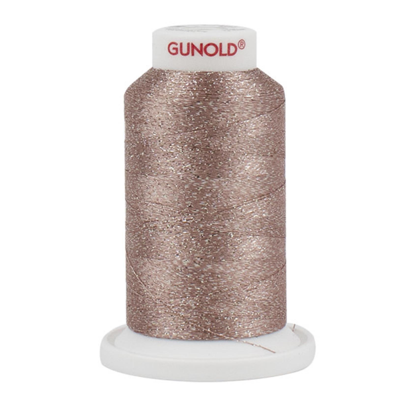 Gunold Poly Sparkle™ (Star™) Mini-King Cone 1,100 YD, 30 Wt, Medium Dark Ecru with Silver Sparkle 50552