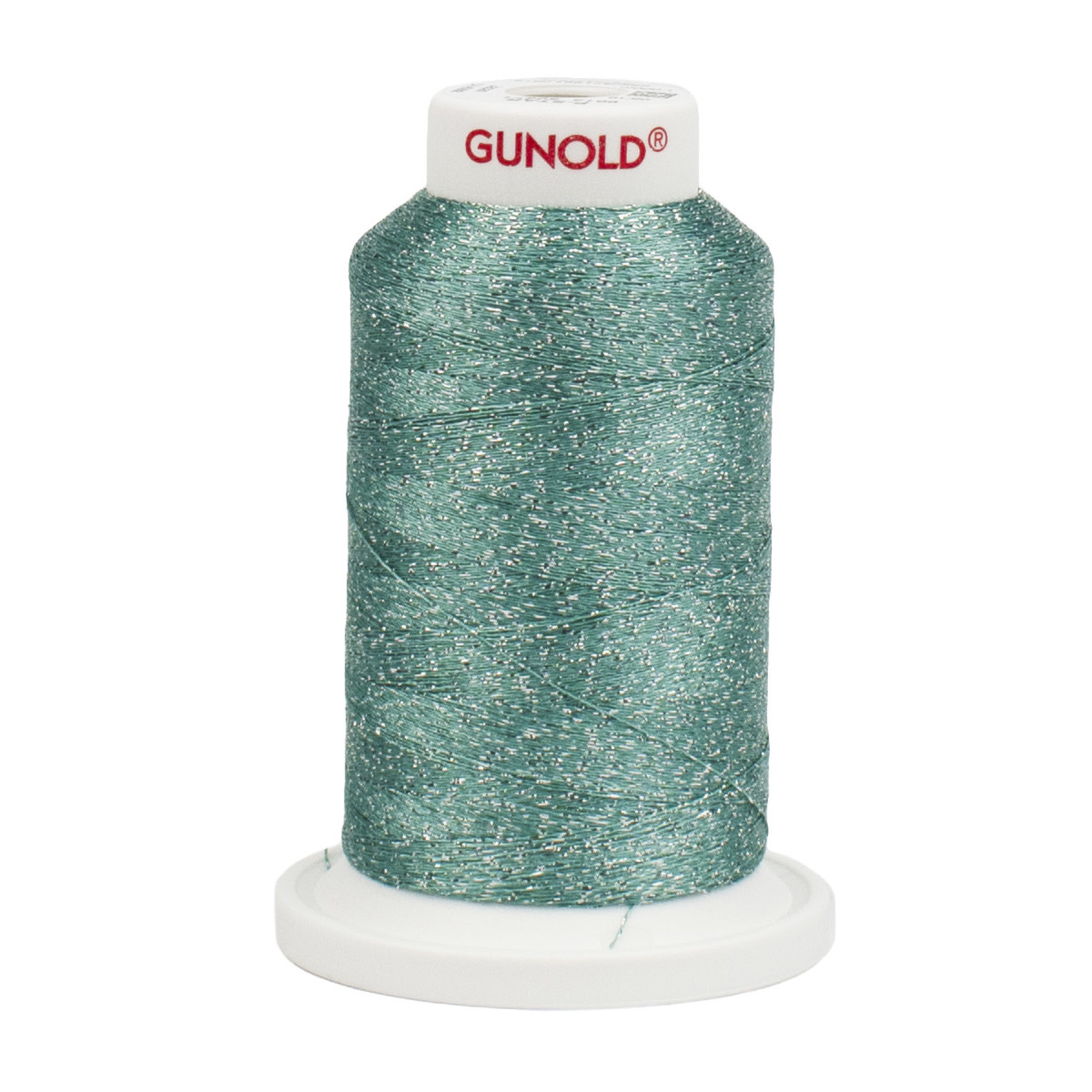 Gunold Poly Sparkle™ (Star™) Mini-King Cone 1,100 YD, 30 Wt, Light Teal with Silver Sparkle 50571