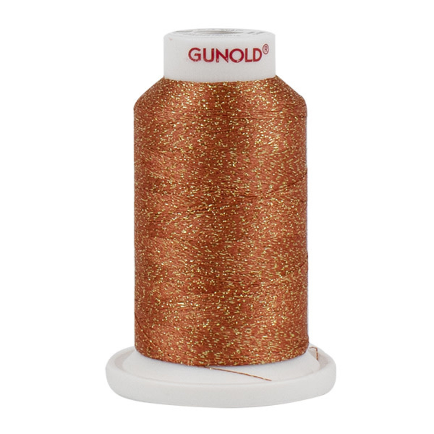 Gunold Poly Sparkle™ (Star™) Mini-King Cone 1,100 YD, 30 Wt, Salmon Peach with Gold Sparkle 50574