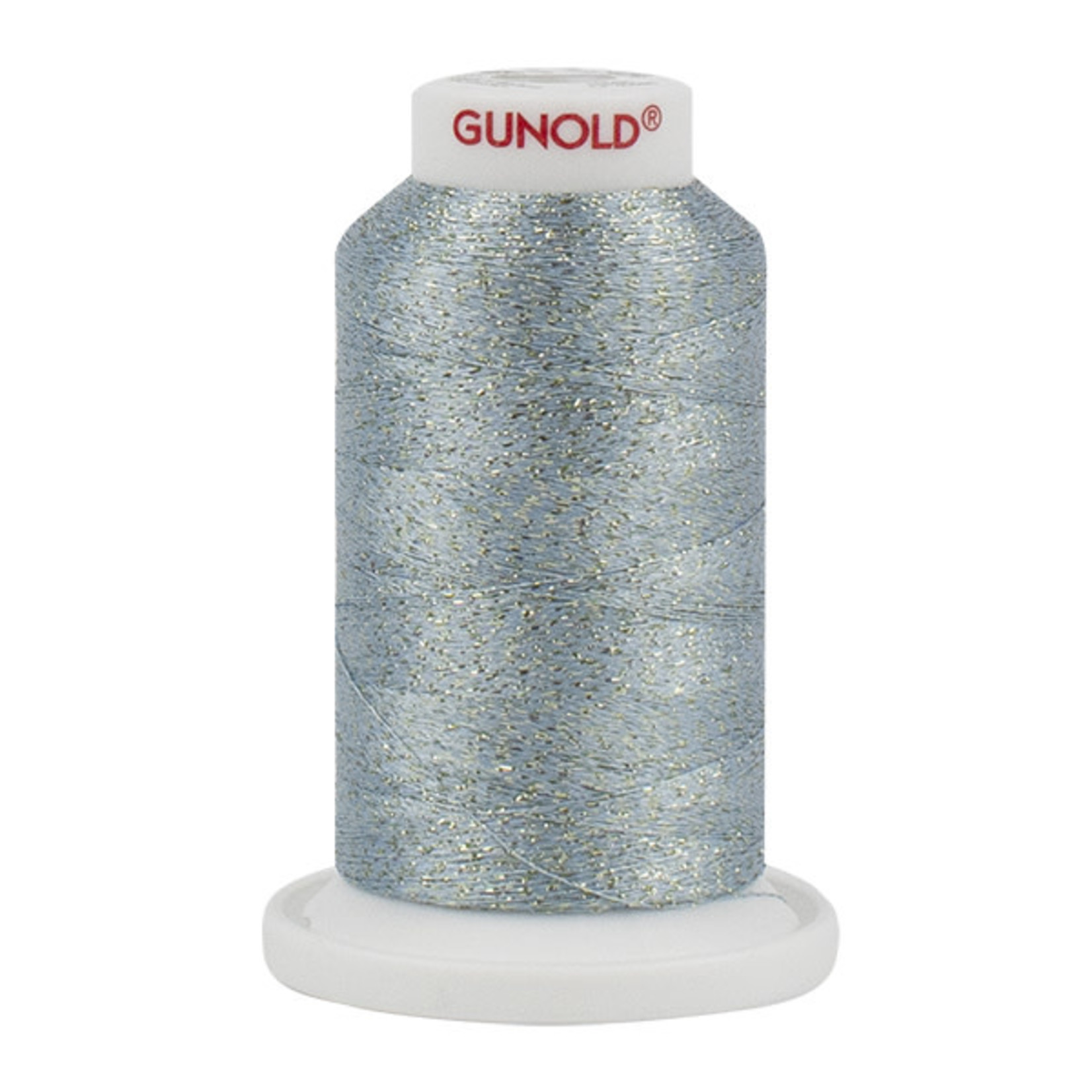 Gunold Poly Sparkle™ (Star™) Mini-King Cone 1,100 YD, 30 Wt, Pale Caribbean with Gold Sparkle 50575