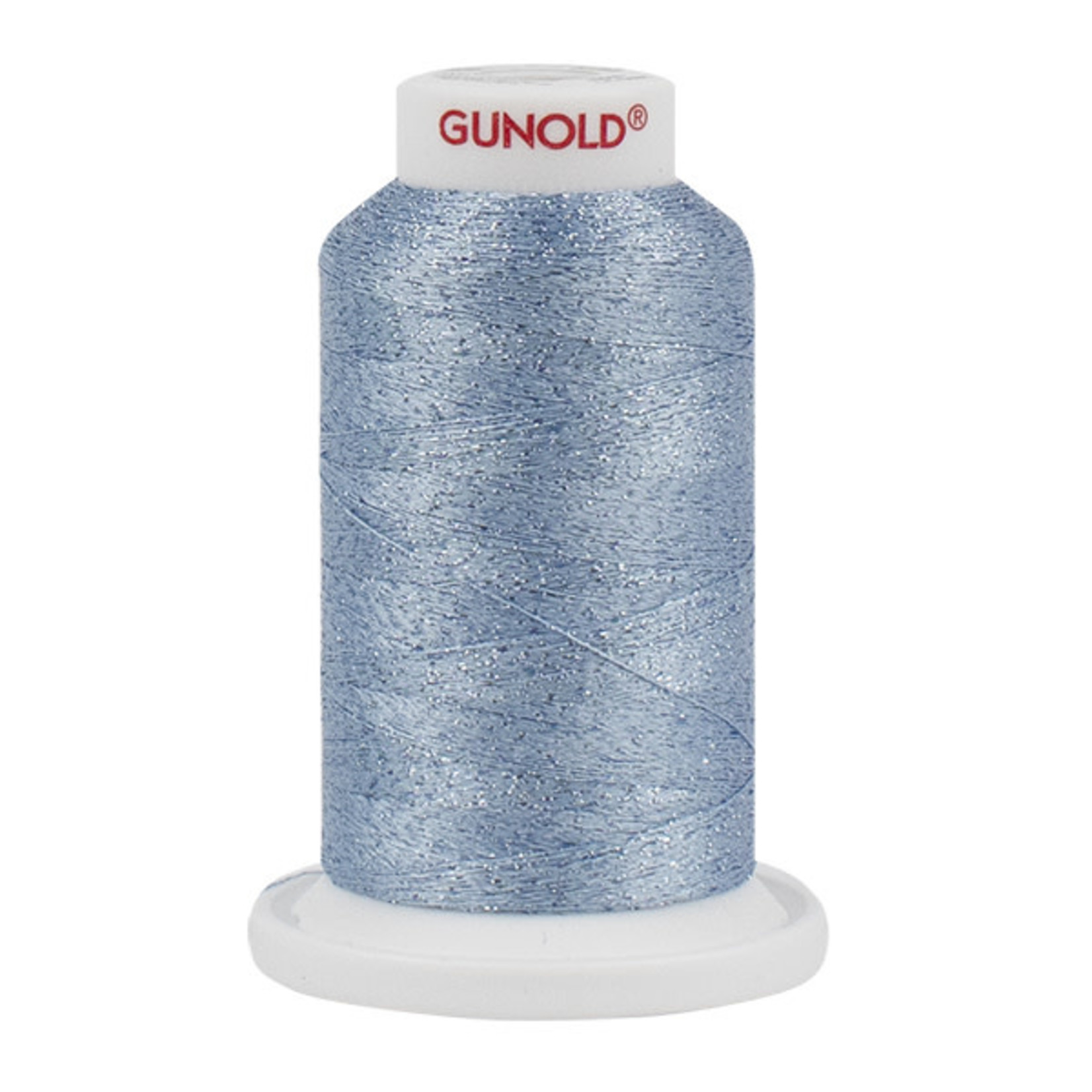 Gunold Poly Sparkle™ (Star™) Mini-King Cone 1,100 YD, 30 Wt, Light Weathered Blue with Tone On Tone Sparkle 50580