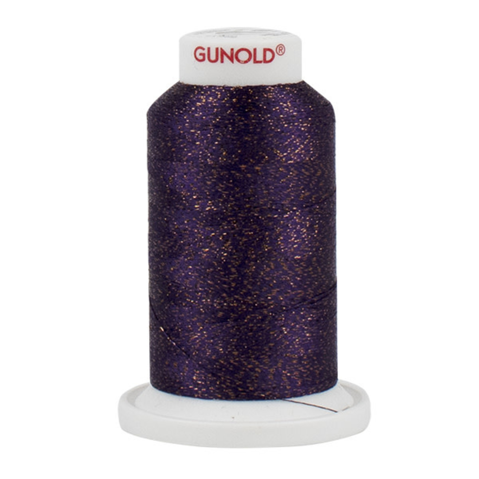 Gunold Poly Sparkle™ (Star™) Mini-King Cone 1,100 YD, 30 Wt, Aubergine with Copper Sparkle 50592
