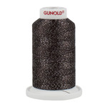 Gunold Poly Sparkle™ (Star™) Mini-King Cone 1,100 YD, 30 Wt, Dark Tawny Brown with Silver Sparkle 50605