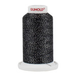 Gunold Poly Sparkle™ (Star™) Mini-King Cone 1,100 YD, 30 Wt, Charcoal Gray with Silver Sparkle 50607