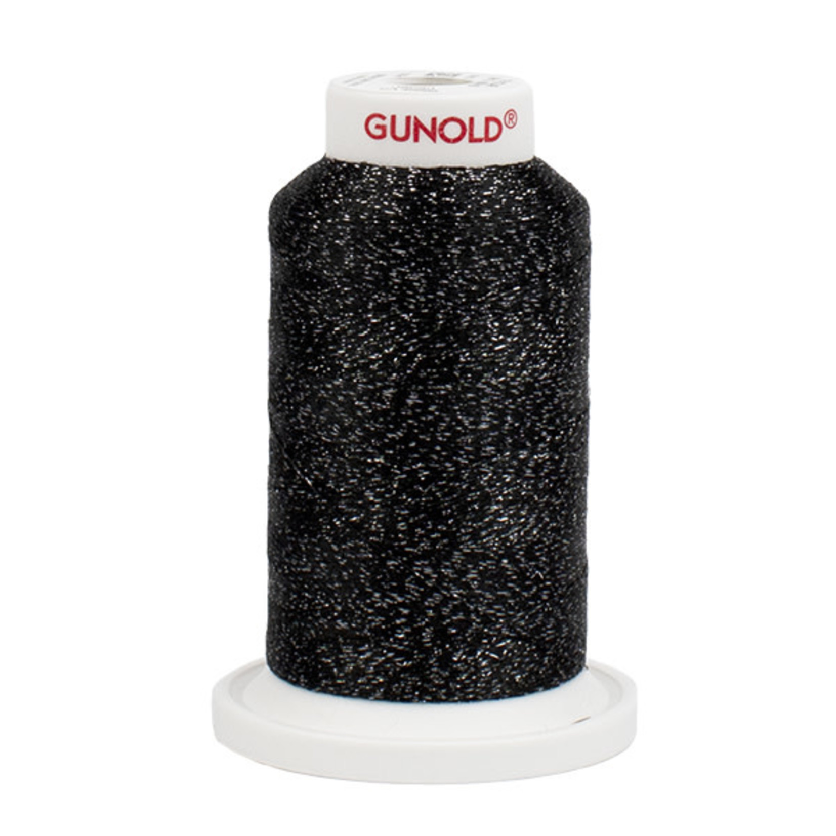 Gunold Poly Sparkle™ (Star™) Mini-King Cone 1,100 YD, 30 Wt, Black with Pewter Sparkle 50615