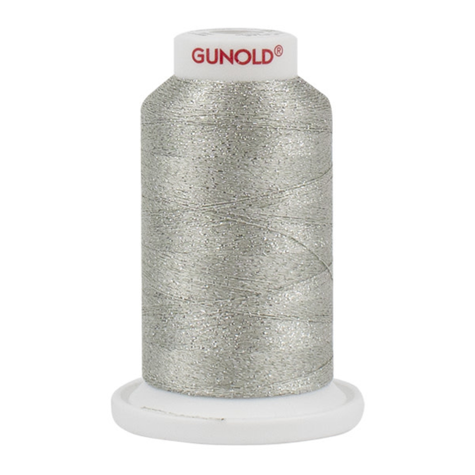 Gunold Poly Sparkle™ (Star™) Mini-King Cone 1,100 YD, 30 Wt, Light Silver with Tone On Tone Sparkle 50620