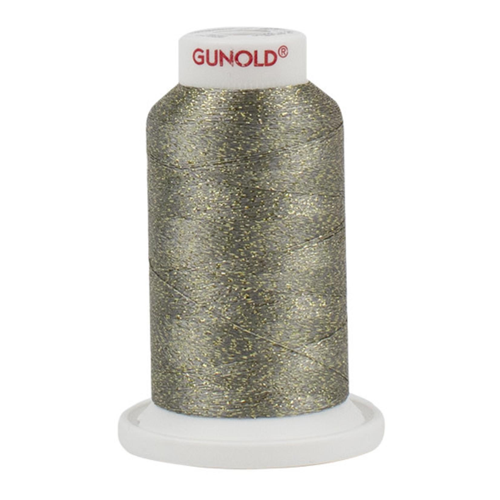Gunold Poly Sparkle™ (Star™) Mini-King Cone 1,100 YD, 30 Wt, Medium Khaki with Gold Sparkle 50630