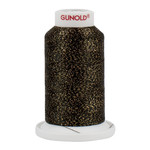 Gunold Poly Sparkle™ (Star™) Mini-King Cone 1,100 YD, 30 Wt, Black with Gold Sparkle 50639