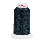 Gunold Poly Sparkle™ (Star™) Mini-King Cone 1,100 YD, 30 Wt, Black with Aqua Sparkle 50645