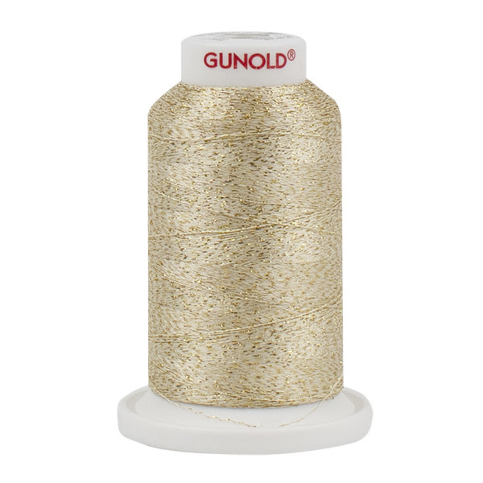 Gunold Poly Sparkle™ (Star™) Mini-King Cone 1,100 YD, 30 Wt, Ecru with Gold Sparkle 50903