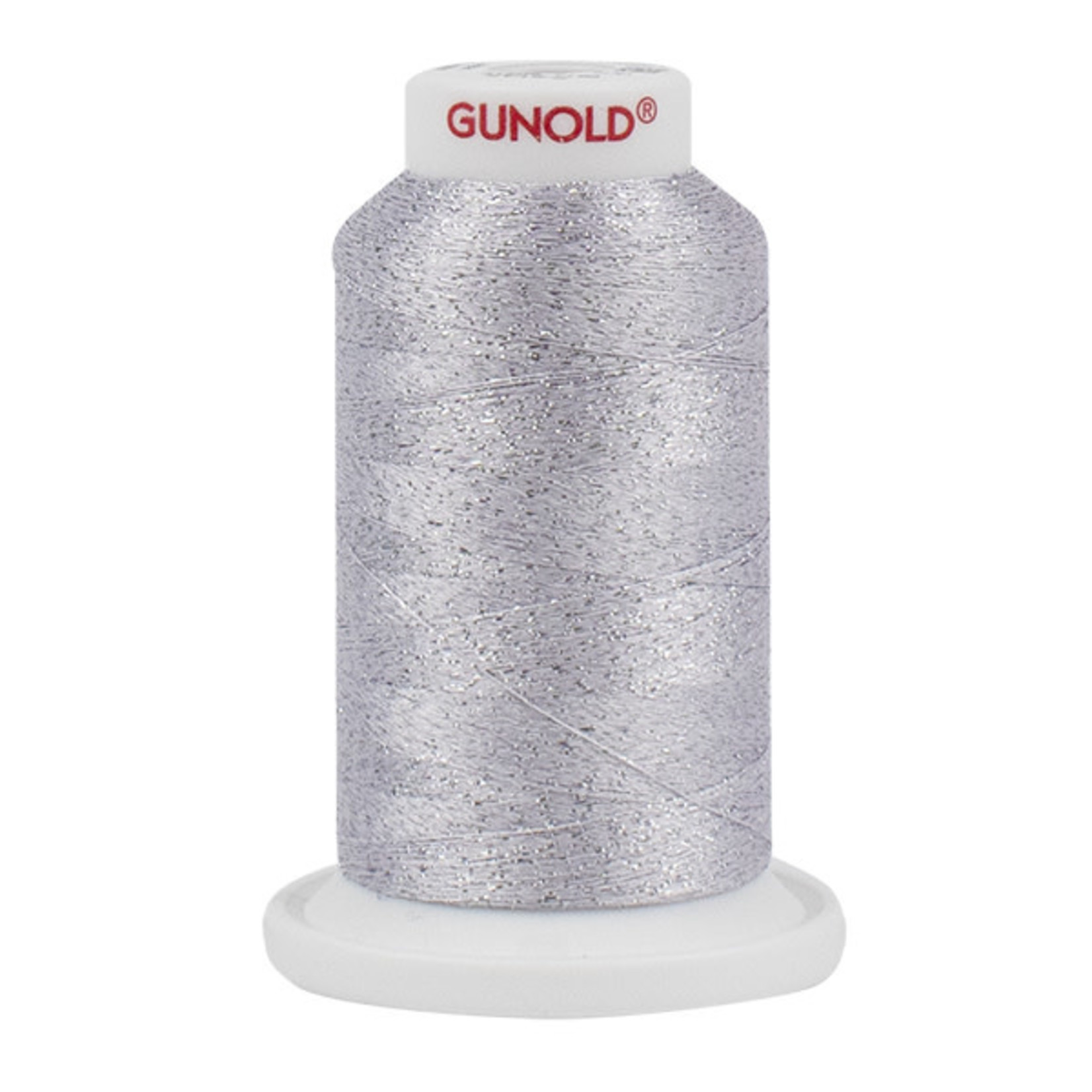 Gunold Poly Sparkle™ (Star™) Mini-King Cone 1,100 YD, 30 Wt, White and silver 50518