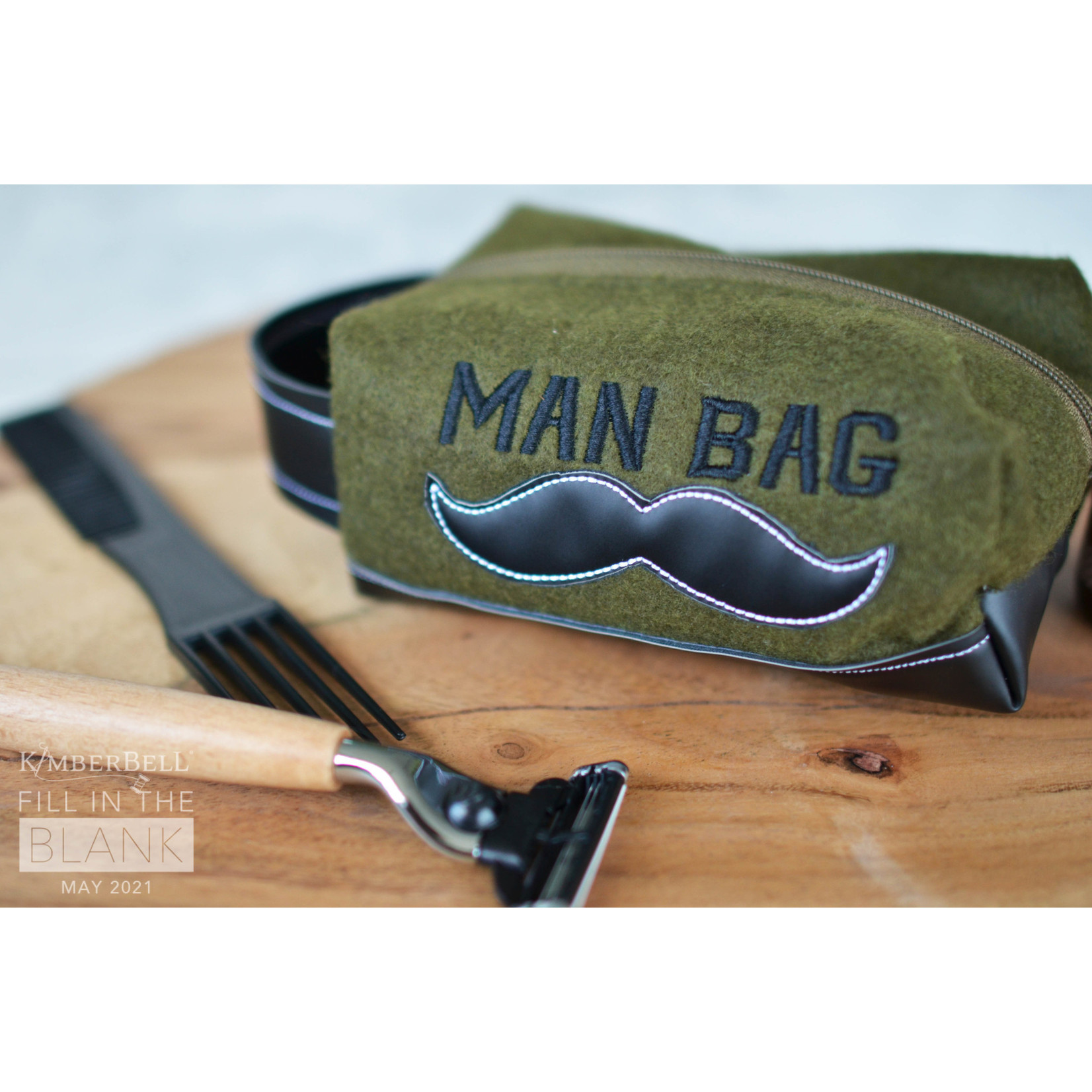 KIMBERBELL DESIGNS Fill in the Blank - Man Bag Kit