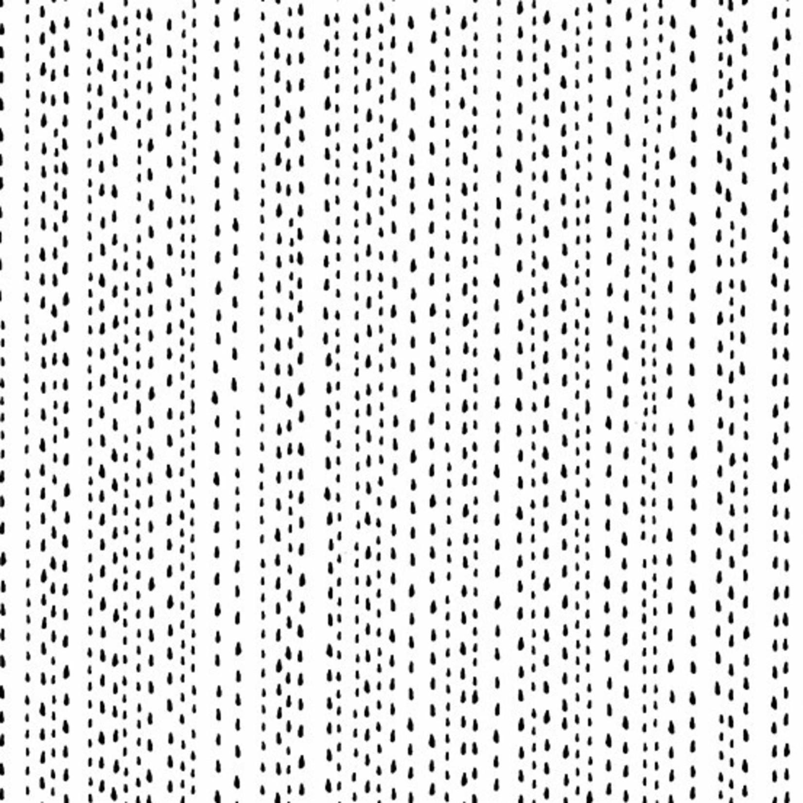 Andover Century Black on White, Rain Drops CS-9673-L $0.18 per cm or $18/m