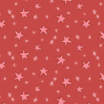 Clothworks 70cm Just What I Wanted, Stars on Red per CM or $20/M