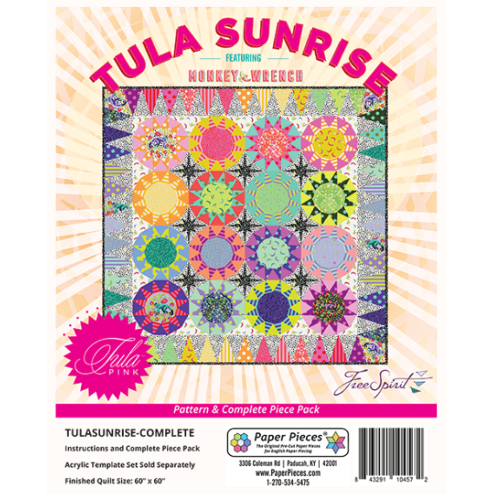 Tula Pink PRE-ORDER Tula Sunrise Quilt by Tula Pink - Complete