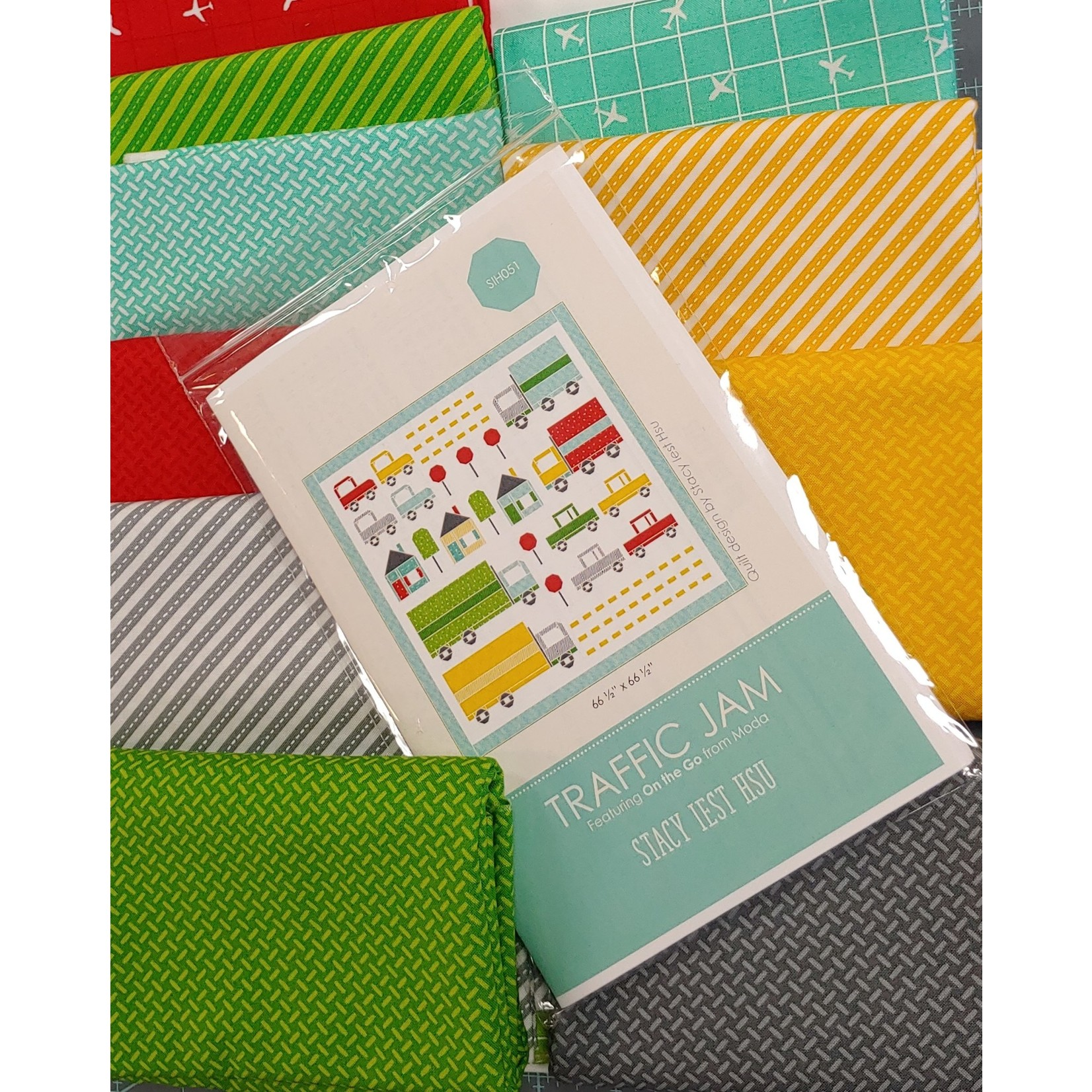 Moda Traffic Jam Quilt Kit - Binding Included - Backing Not Included