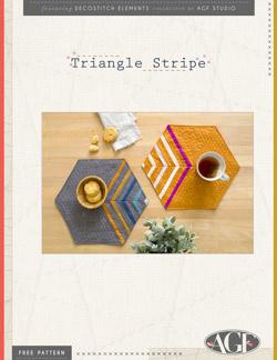 Triangle Stripe Placemat Free Pattern