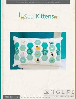 I See Kittens Free Pillow Pattern