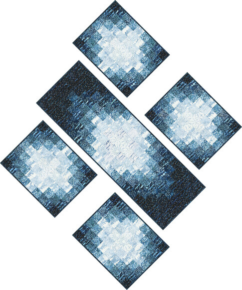 Emanating Light Runner and Placemats Free Pattern