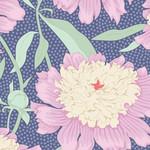 Tilda Gardenlife, Bowl Peony, Blue 100320 $0.20 per cm or $20/m