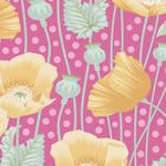 Tilda Gardenlife, Poppies, Pink 100303 $0.20 per cm or $20/m