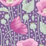 Tilda Gardenlife, Poppies, Lilac 100306 $0.20 per cm or $20/m