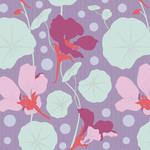 Tilda Gardenlife, Nasturtium, Lavender 100308 $0.20 per cm or $20/m