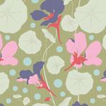 Tilda Gardenlife, Nasturtium, Green 100311 $0.20 per cm or $20/m