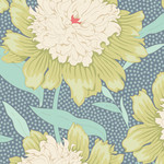 Tilda Gardenlife, Bowl Peony, Grey Green 100314 $0.20 per cm or $20/m