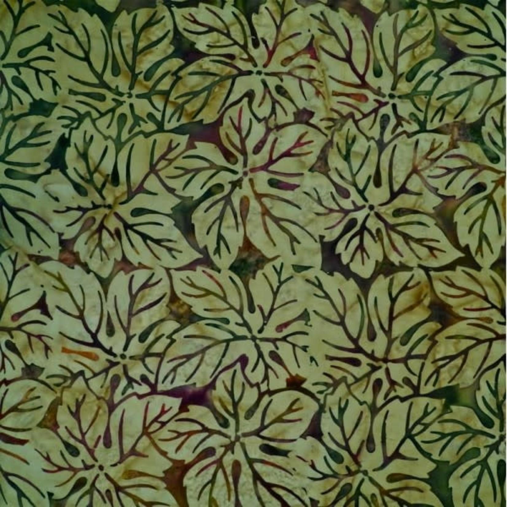 Mirah Zriya Batik by Mirah, Nutshell, Cedar Olive NS-3-6207 $0.16 per cm or $16/m