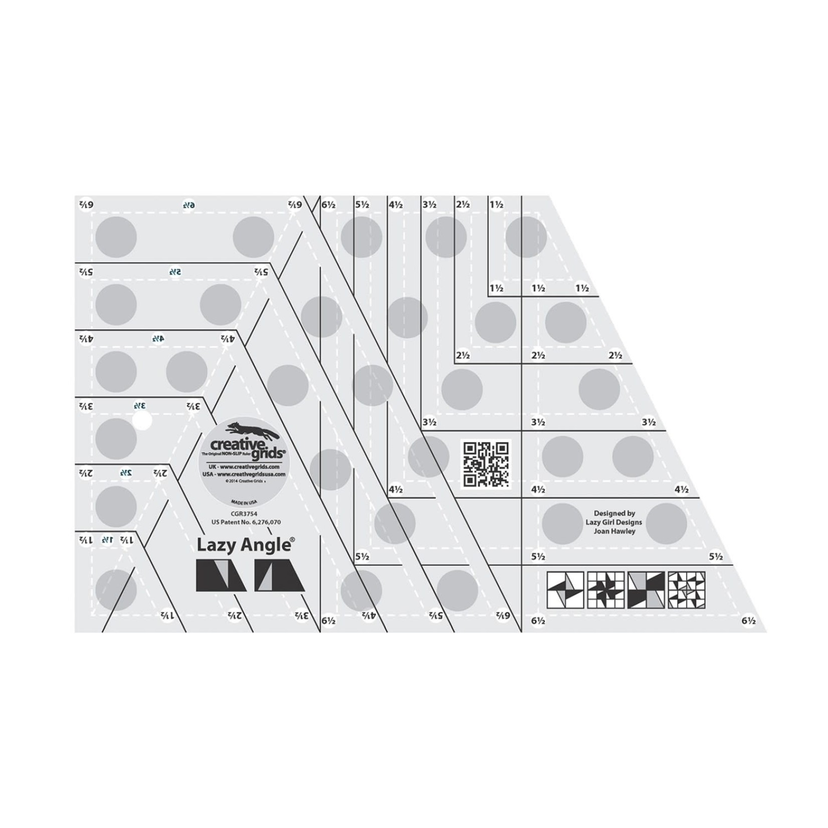 Creative Grids Creative Grids Lazy Angle Quilt Ruler