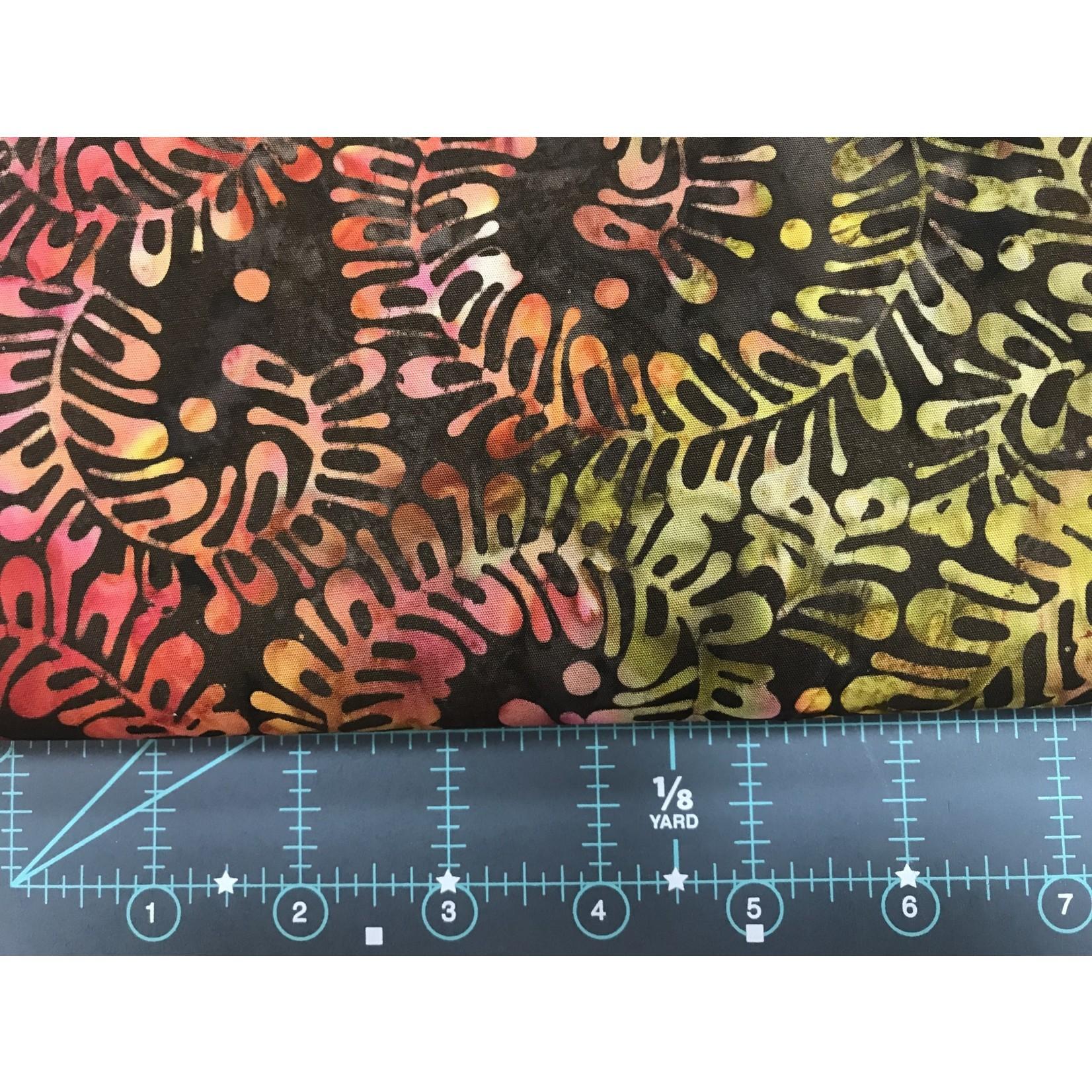 Trend Tex 360cm PINK/ORANGE/MOSS on BROWN BATIK  $16.M