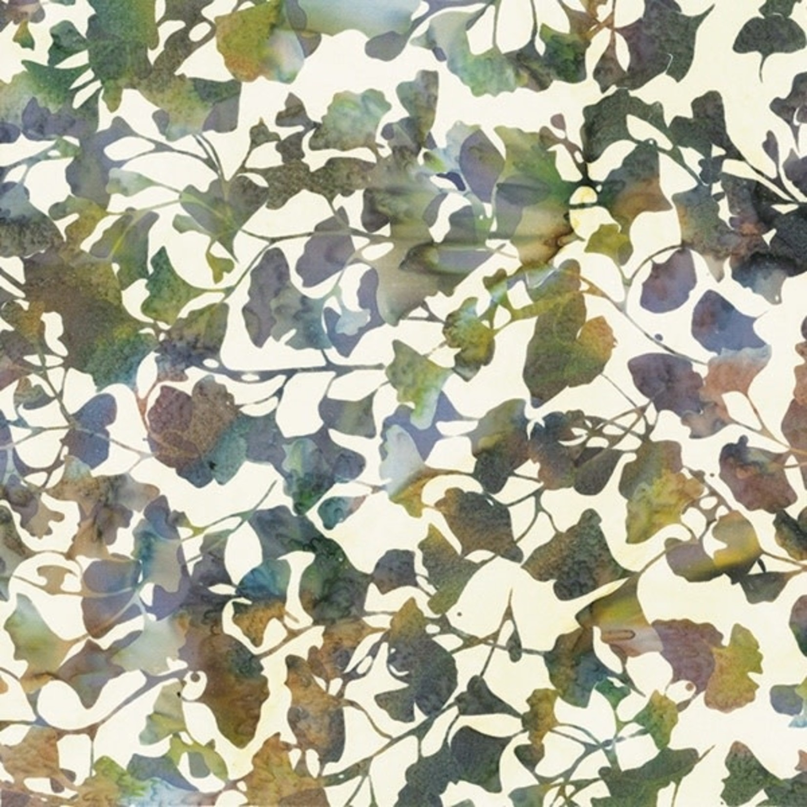 Hoffman Bali Batiks, Leaves, Vineyard 2376-545 $0.20 per cm or $20/m