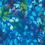 Hoffman Bali Batiks, Leaves, Ocean Aquatic 2376-692 $0.20 per cm or $20/m