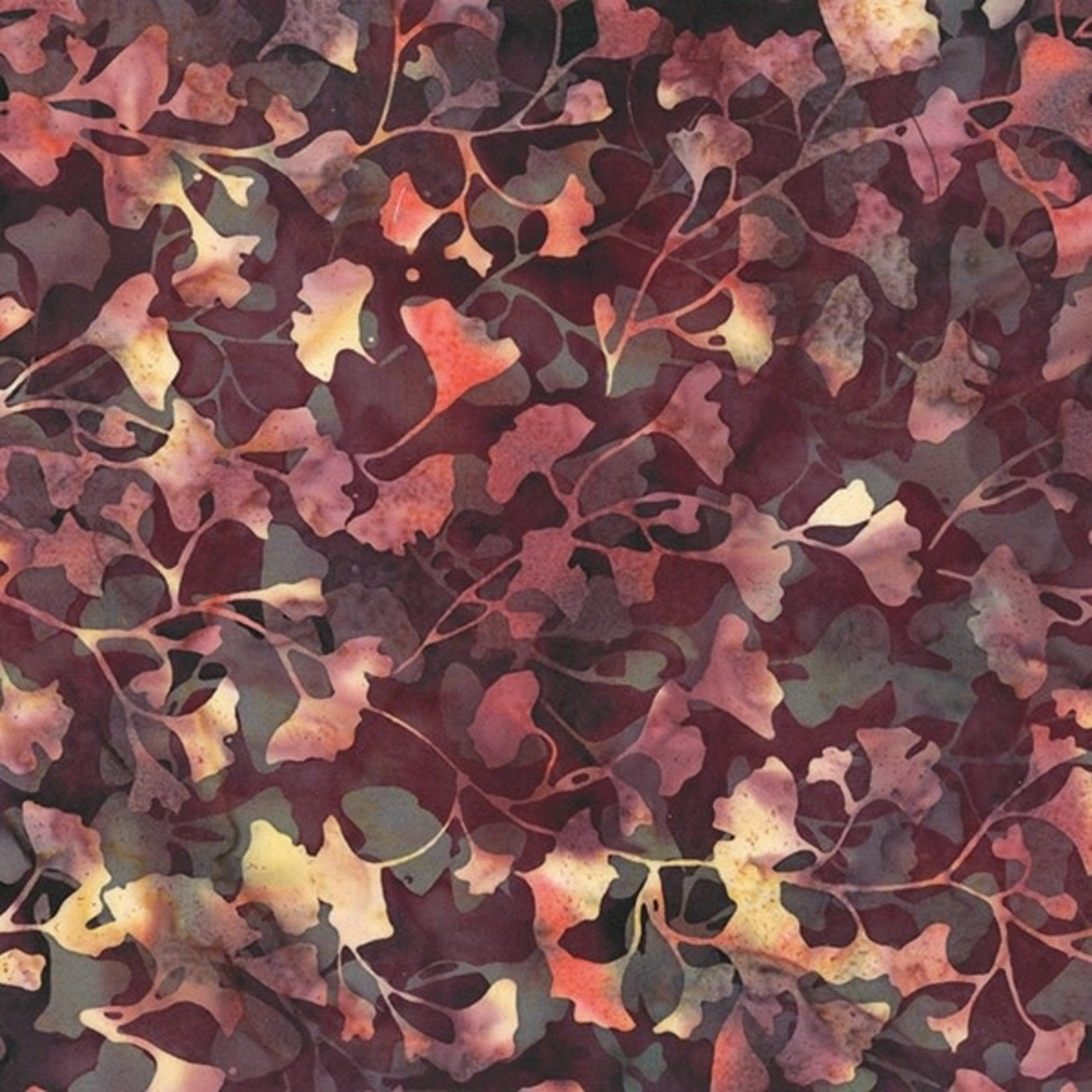 Hoffman Bali Batiks, Leaves, Nightshade 2376-533 $0.20 per cm or $20/m