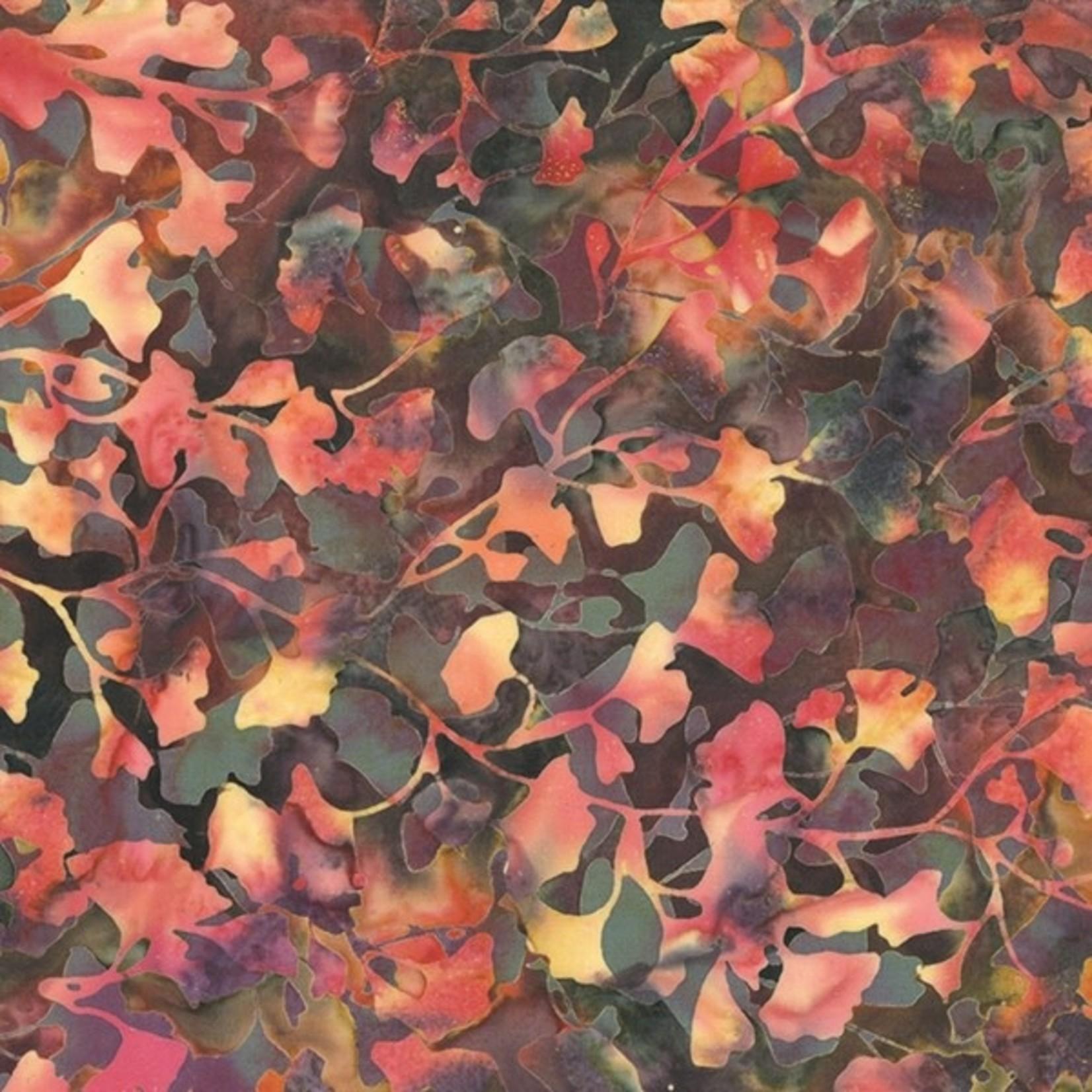 Hoffman Bali Batiks, Leaves, Global Spice 2376-634 $0.20 per cm or $20/m