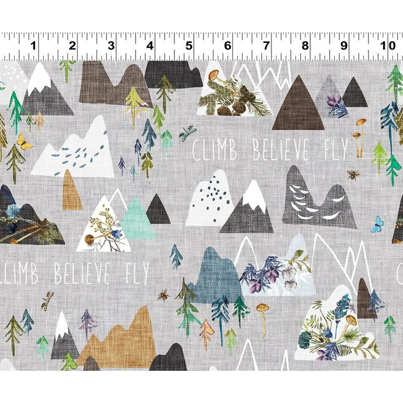 Esther Fallon Lau Forest Glade, Mountains, Light Pewter Y3154-118 $0.20 or $20m