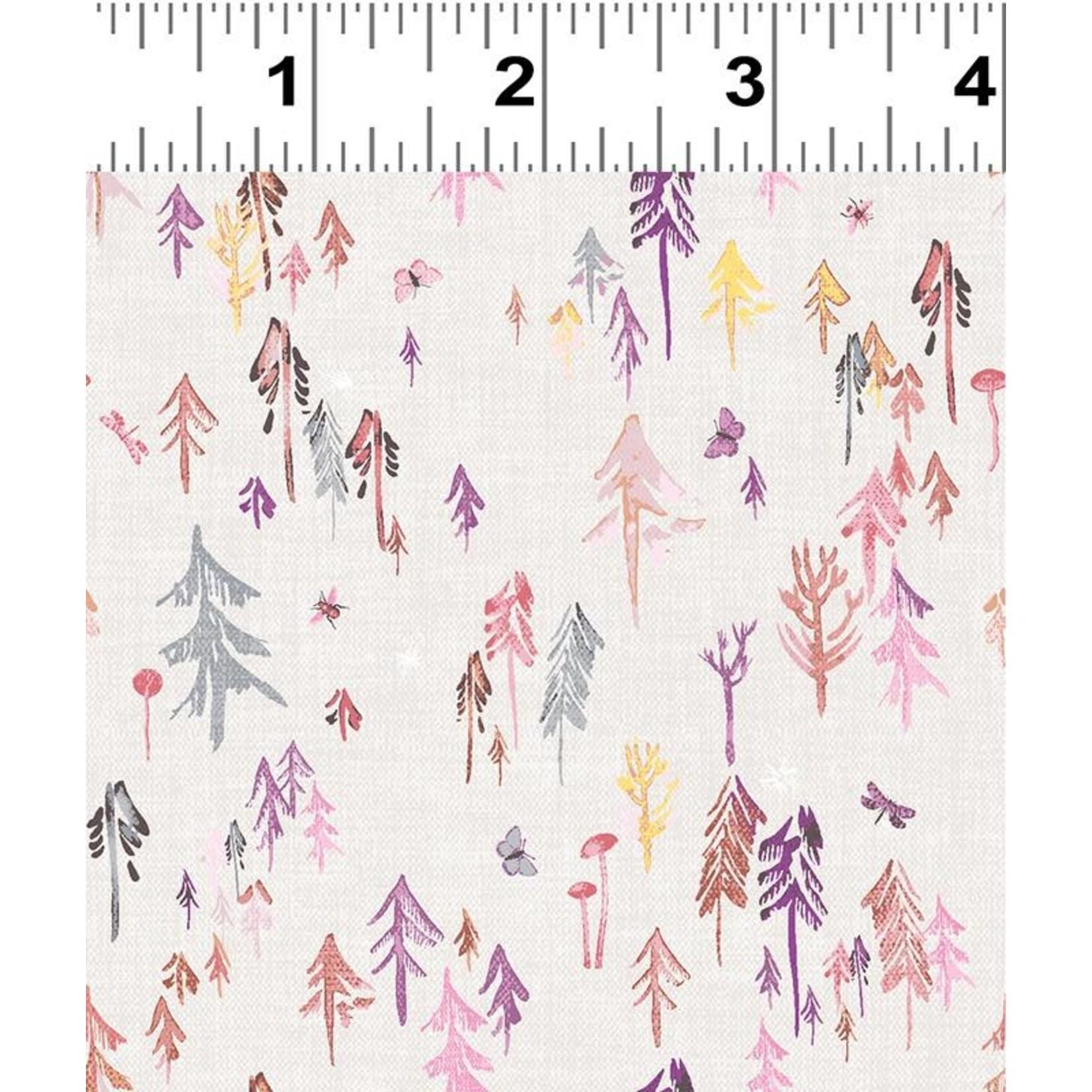 Esther Fallon Lau Forest Glade, Forest, Dark Pink Y3157-73 $0.20 or $20m