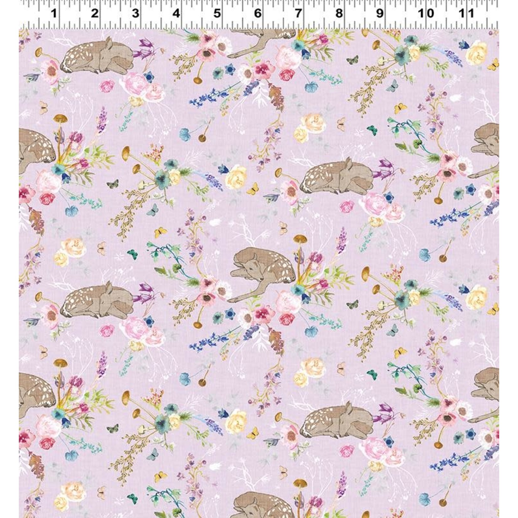 Esther Fallon Lau Forest Glade, Fawns, Orchid Y3155-121 $0.20 or $20m